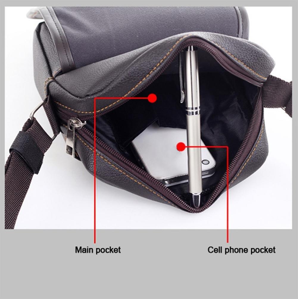 Asatr Men Casual Leather Shoulder Messenger Bag for Men Work Outdoor Crossbody Bag by Asatr (Image #6)