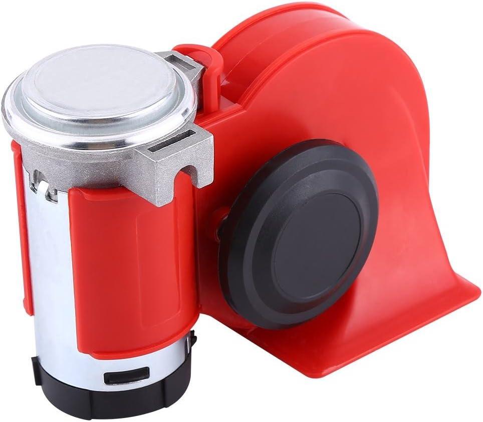 12V Dual Tone Trumpet Super Loud Electric Air Horn Snail Electric Pump Siren Car Motorcycle Electric Air Horn
