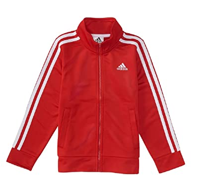 73a9431e3 Amazon.com  adidas Boys 4-7x Iconic Tricot Jacket  Sports   Outdoors