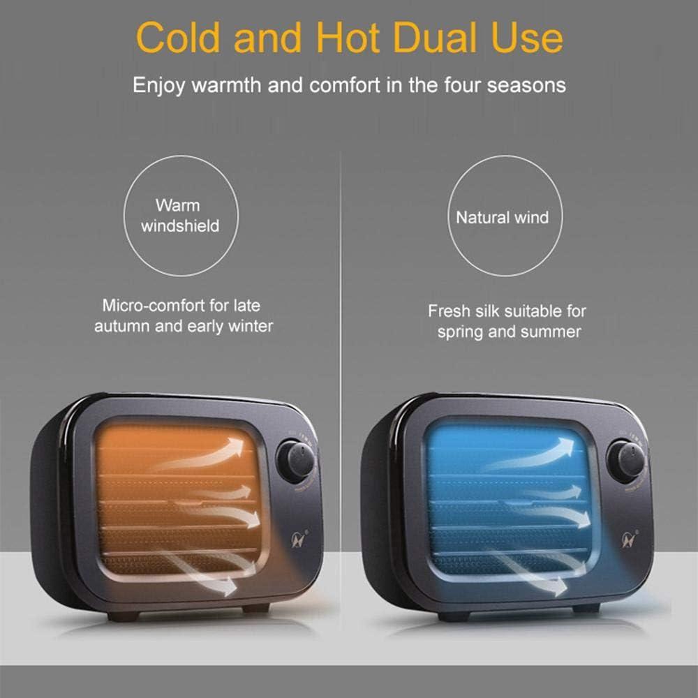 Volwco - Calefactor de cerámica de 500 W, con Forma de Mini televisor, Calentamiento rápido, con protección contra sobrecalentamiento, 2 en 1, de cerámica para Oficina, Escritorio o Dormitorio: Amazon.es: Hogar
