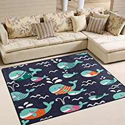 61zx9W8iqPL._SS247_ Whale Rugs and Whale Area Rugs