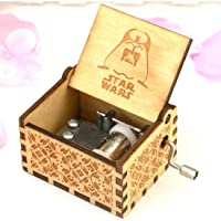 EITHEO Wooden Music Box Antique Carved Hand Crank Game of Thrones Theme Music (Star Wars)