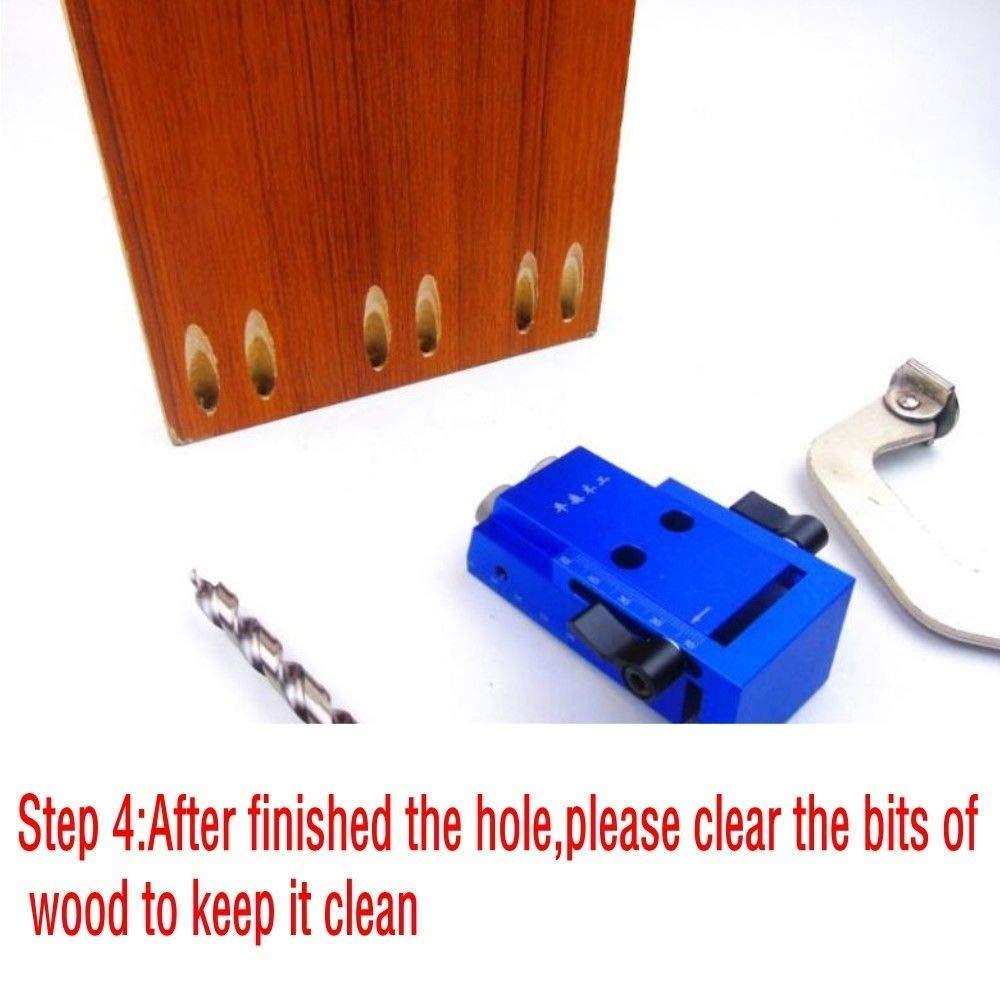 Juego de herramientas de trabajo de madera con broca de perforaci/ón mini Kreg Style broca escalonada