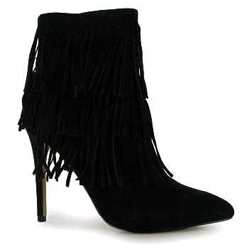 9a8a2ed9edd Steve Madden Flapper Stiletto Boots Womens Black Ladies Fashion Footwear  (UK5)
