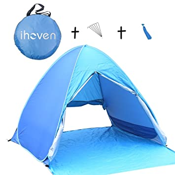 ihoven Pop-up Beach Tent 2-3 Person Automatic Instant Setup Anti-  sc 1 st  Amazon.com & Amazon.com: ihoven Pop-up Beach Tent 2-3 Person Automatic Instant ...