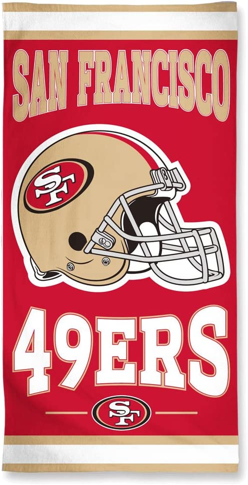 NFL Licensed Beach Towel San Francisco 49ers