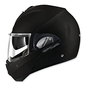 Shark Unisex-Adult Full Face Evoline 3 Fusion Helmet (Matte Black, Medium)