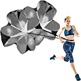UQXY Speed Chute Running Parachute for Speed Training Pack of 2 56 inch Running Speed Training Resistance Parachute for Kids Youth and Adults (Black)