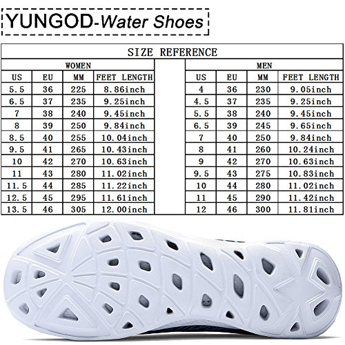 Lightweight US 's grey Men Mesh Women Aqua US 12 grey Shoes On Shoes Walking Quick M B Water Slip YUNGOD 14 Men D 902 Drying M BCwqgnvx
