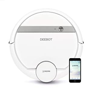 ECOVACS DEEBOT 900 Smart Robotic Vacuum, Carpet, Bare Floors, Pet Hair + Mapping Technology, High Suction Power, WiFi, with Alexa, Google Assistant (Renewed)
