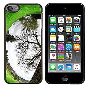 KLONGSHOP // Cubierta de piel con cierre a presión Shell trasero duro de goma Protección Caso - Planta Naturaleza Forrest Flor 94 - Apple iPod Touch 6 6th Touch6 //