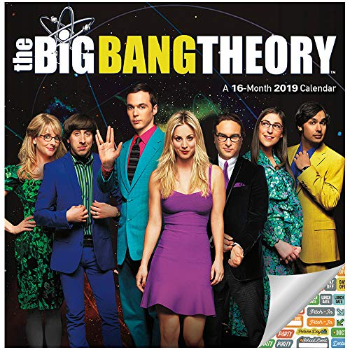 The Big Bang Theory Calendar 2019 Set - Deluxe 2019 Big Bang Theory Mini Calendar with Over 100 Calendar Stickers (The Big Bang Theory Gifts, Office Supplies) (Big Bang Wall Calendar)