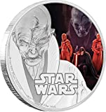 #4: 2017 NU Star Wars SUPREME LEADER SNOKE The Last Jedi 1 Oz Silver Coin 2$ Niue 2017 Proof