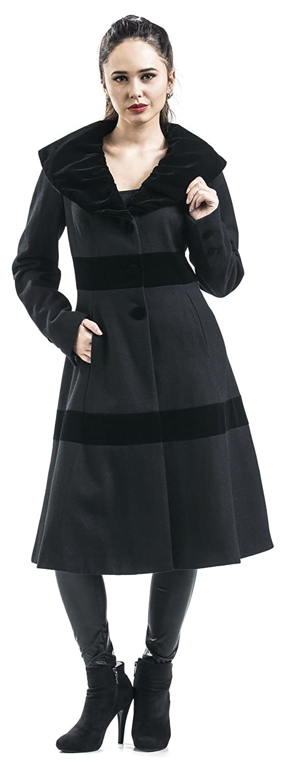 Vintage Coats & Jackets | Retro Coats and Jackets Voodoo Vixen Black Coat Girls Coat Black £55.99 AT vintagedancer.com