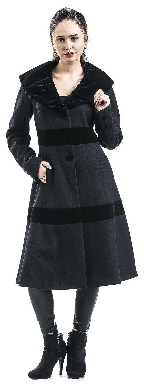 1950s Jackets and Coats | Swing, Pin Up, Rockabilly Voodoo Vixen Black Coat Girls Coat Black £55.99 AT vintagedancer.com
