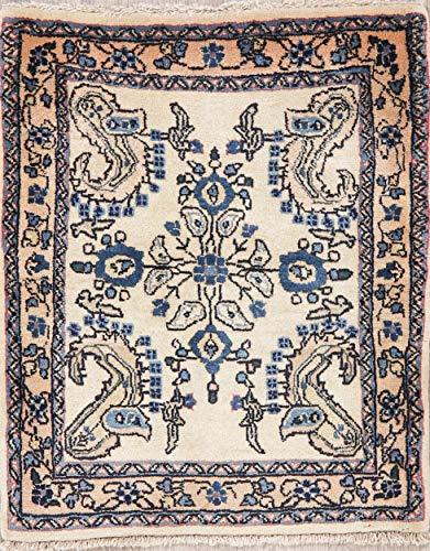 (Bidjar Persian Rug Handmade Oriental Floral Wool Vintage 2 x 3 Oriental Carpet)