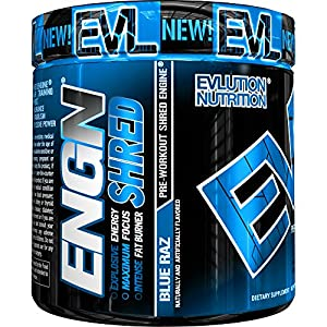 Evlution-Nutrition-ENGN-Shred-Pre-Workout-Thermogenic-Fat-Burner-Powder-Energy-Weight-Loss-30-Servings-Blue-Raz