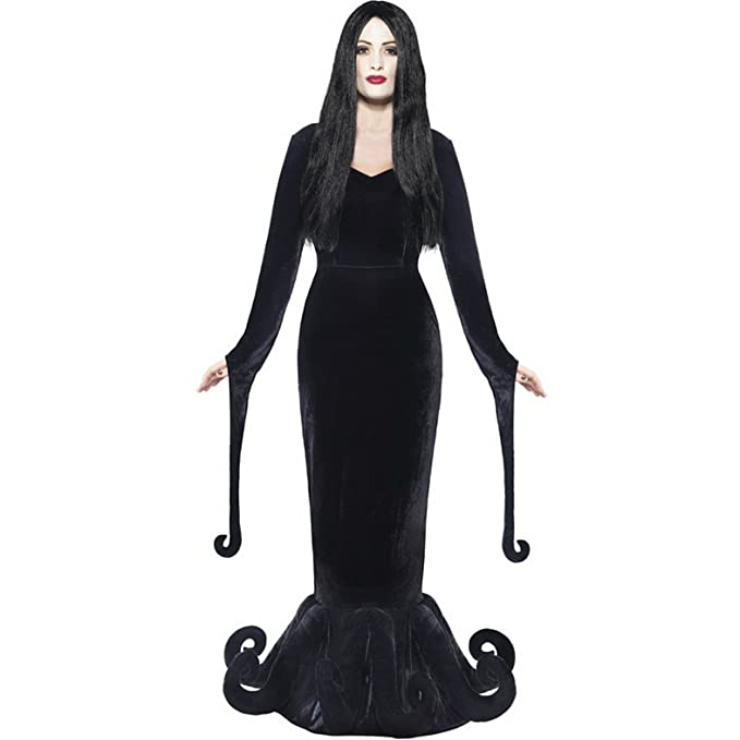 Hippie Costumes, Hippie Outfits Smiffys Womens Morticia Addam Family Gothic Halloween Costume $69.14 AT vintagedancer.com