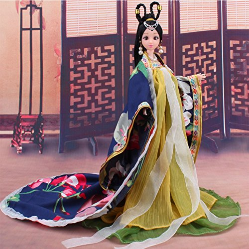 Shrimp On The Barbie Costume (Lanlan Chinese Traditional Classical Princess Dress Costume Chinese Ancient Mythological Clothes Girl's Favorite for Girl's Doll Traditional)
