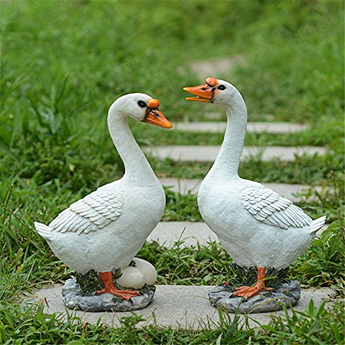 Danmu Polyresin Goose Statue Garden Decor (2pcs a Set) - Goose Sculpture