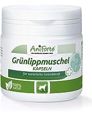 AniForte Grünlippmuschel-Kapseln 100 Stück für Hunde, Gelenk-Tabletten, Reines Grünlippmuschel-Extrakt Perna Canaliculus, Grünlippenmuschel