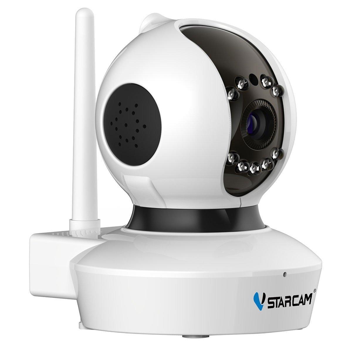 ネットワークカメラ Vstarcam ミニ監視カメラ WIFI 1080P 200万画素 ペット 子供見守り 防犯 監視 スマホ/ipad/パソコン対応 (C23S-ホワイト) B07526W2FS ホワイト ホワイト