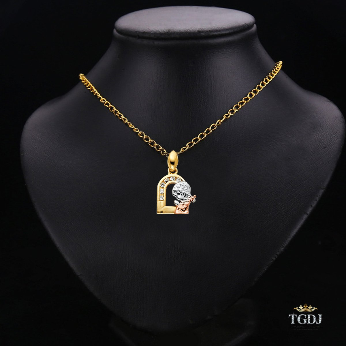 Top Gold /& Diamond Jewelry 14k Yellow White Rose Gold CZ Religious Praying Hands Pendant