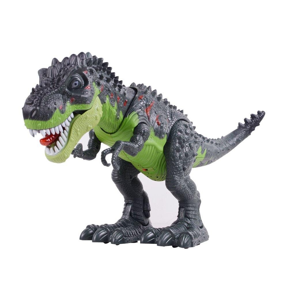 Ovovo Dinosaur Robot Toy Large Size Walking Dinosaur Toy for Boys Girls with Roaring Sounds,Glowing Eyes& Walking Movement