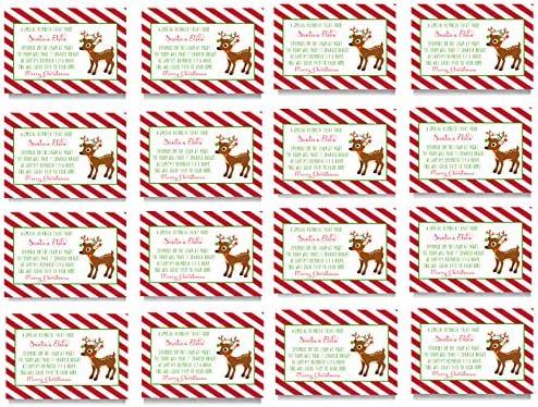 amazon com reindeer food gift tags kid s christmas party supplies