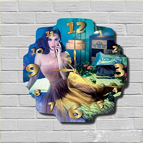 [Katy Perry 11.8'' Handmade Wall Clock - Get unique décor for home or office – Best gift ideas for kids, friends, parents and your soul mates] (Katy Perry Costumes Ideas)