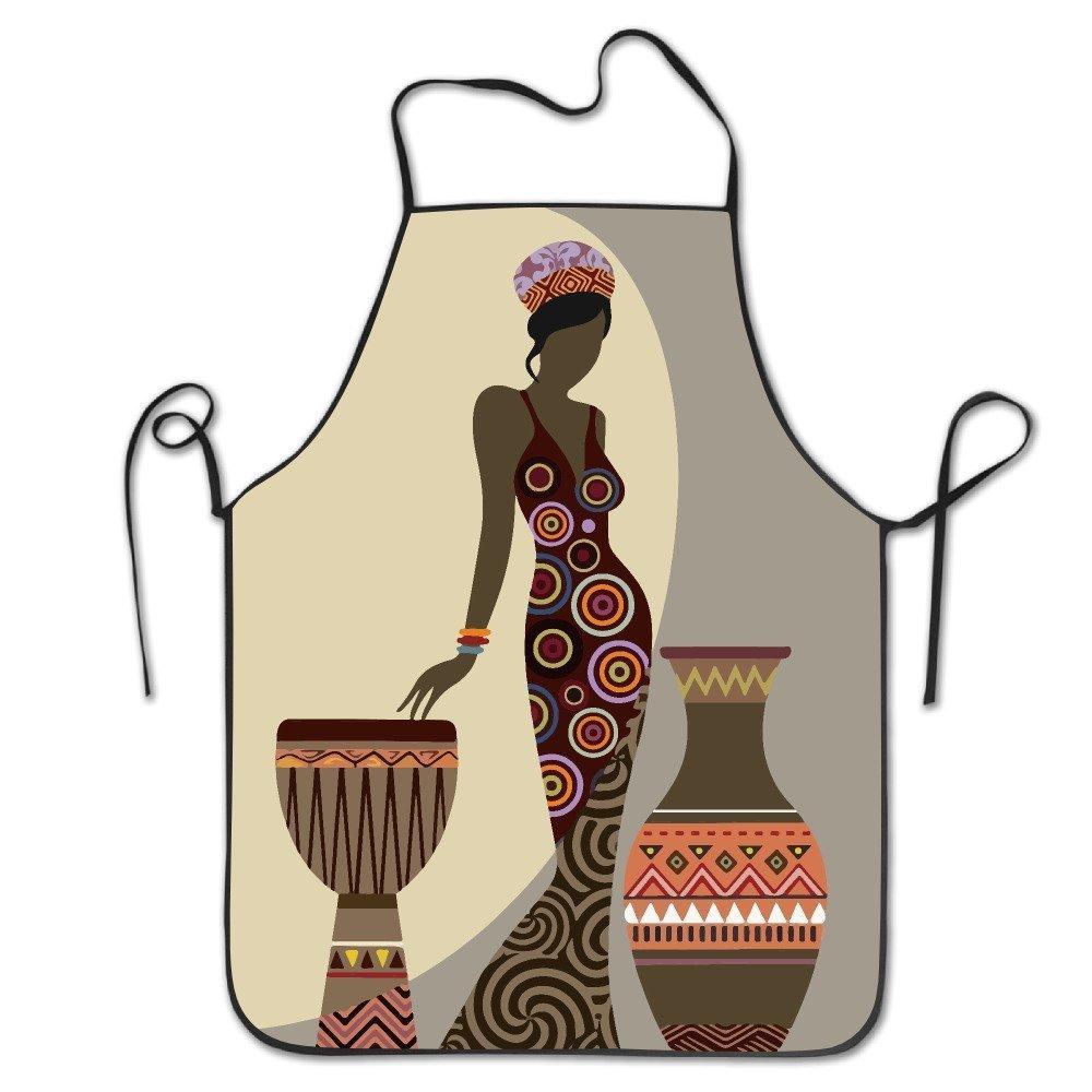 Afro Americanレディース調節可能なエプロンのキッチンBBQバーベキュー料理シェフウェイトレスGreat Gift for妻Ladiesメンズボーイフレンド   B07DHDLJSH
