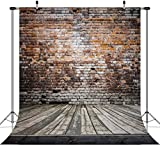 Duluda 8X8FT Seamless Brick Wall Wooden Floor Photograghy Backdrop Computer Printed Scenic Photo Background CP Sturio Prop GM02C