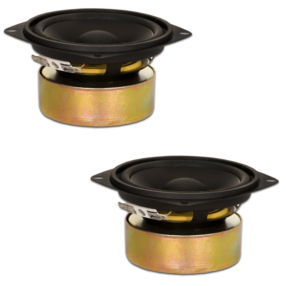 Goldwood Sound, Inc. Stage Subwoofer, Shielded 4'' Woofers 70 Watt each 8ohm Replacement 2 Speaker Set (GW-204/8S-2) by Goldwood Sound, Inc.