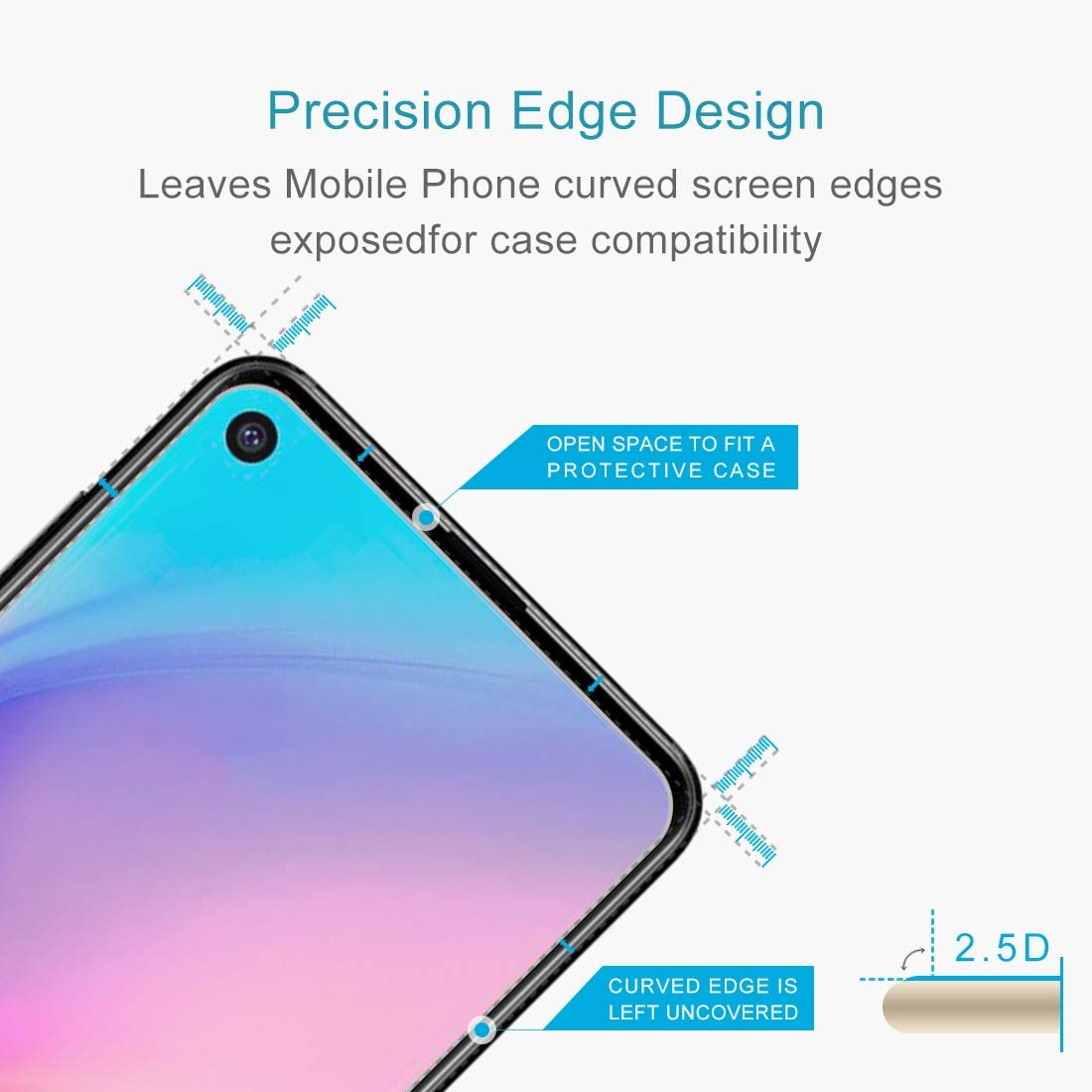 100 PCS 0.26mm 9H 2.5D Explosion-Proof Tempered Glass Film for Galaxy A8s Tempered Glass Film XHC Screen Protector
