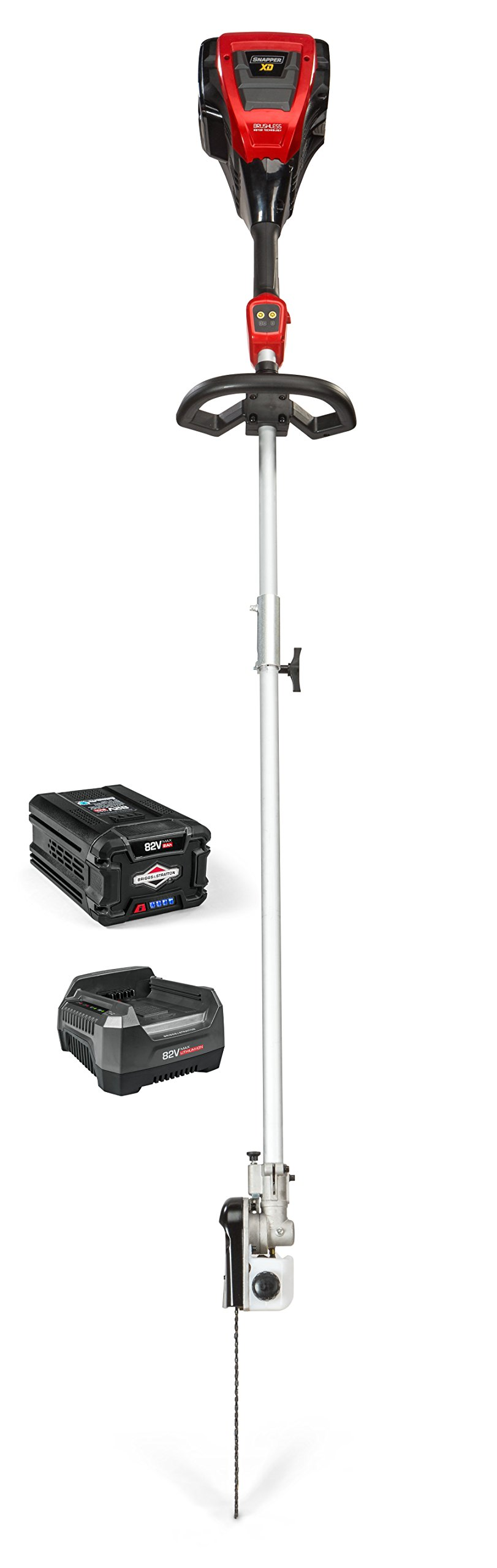 Snapper XD 82V Electric Cordless Pole Saw Kit with 2.0 Battery & Rapid Charger, 1687916, SXD82ZPSK