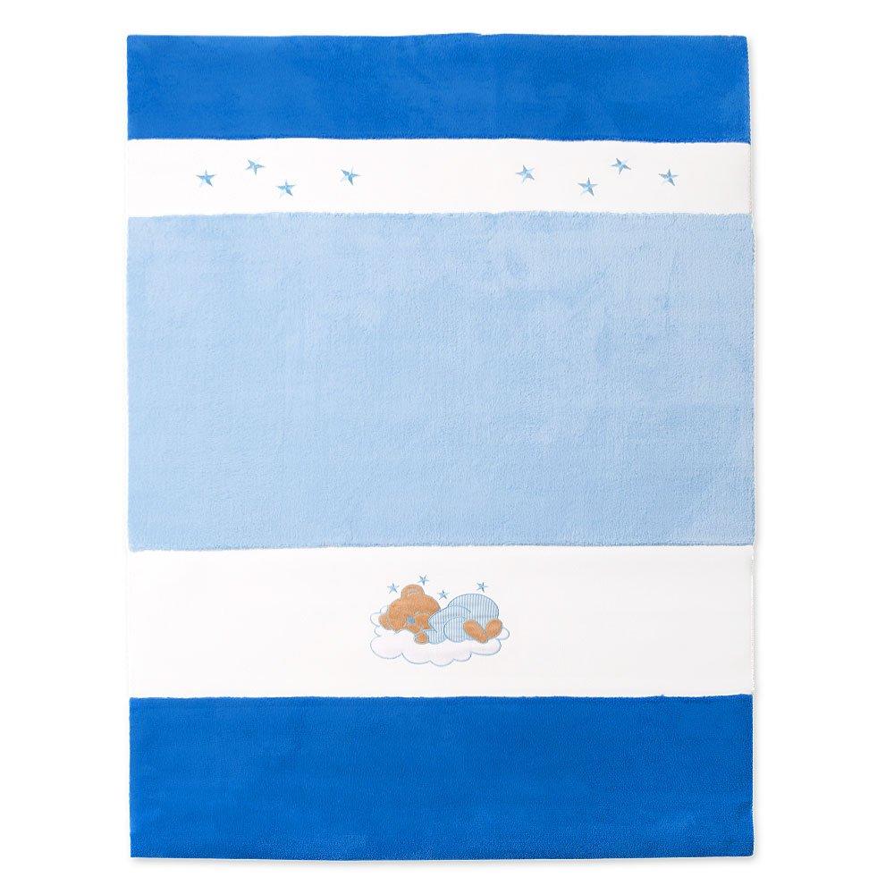 Baby- bzw. Kinderzimmer Teppich Wellsoft Baby Spielteppich in 2 Größen (blau, 150x100 cm)