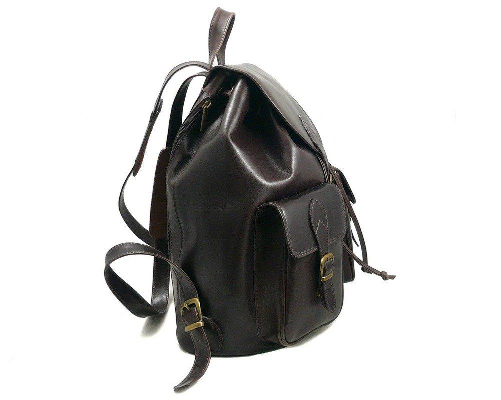 SAGEBROWN Brown Large Leather Rucksack by Sage Brown (Image #4)