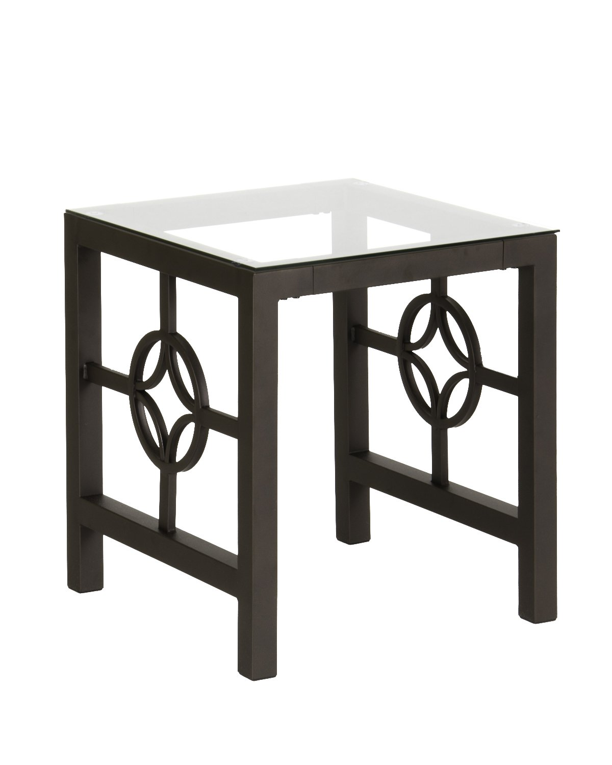 Amazon com modern medallion metal living room table cocktail table coffee table end table kitchen dining