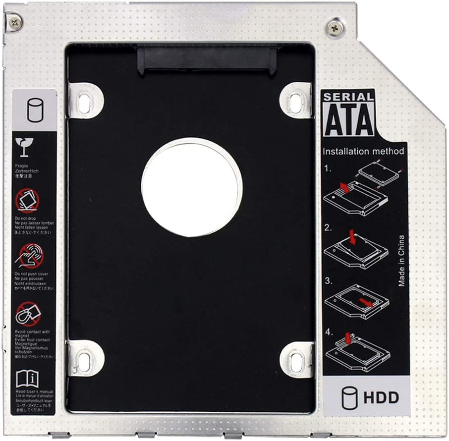 XT-XINTE 9mm SATA 3.0 Interface 2.5 Inch Hard Drive Bracket SDD Adapter Optibay HDD Caddy DVD CD-ROM Enclosure Adapter Case for Laptop PC