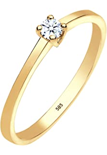 Diamantring verlobung gold  Diamore Damen-Stapelring 585 Gelbgold Diamant (0.15 ct) weiß ...