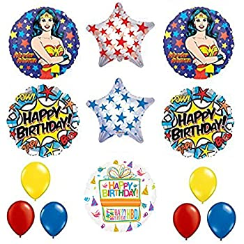 Amazoncom Wonder Woman Party Wonderwoman Balloon Decoration Kit