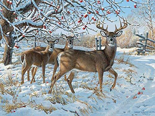 Cobblehill 85030 500 pc Winter Deer Puzzle, Various (500 Piece Deer Puzzle)