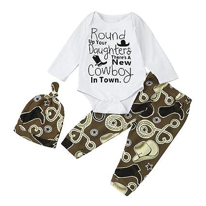"""chshe Baby Boy 3pc ropa recién nacido bebé mezcla de algodón""""redondo up your hijas"""