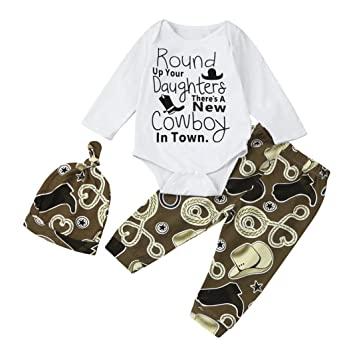 8d0a6a2bb CHshe Baby Boy 3PC Outfits Newborn Infant Toddler Cotton Blend