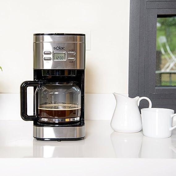 Solac Stillo CF4028 - Cafetera de goteo programable con jarra vidrio de 1.5 l, 12 tazas: Solac: Amazon.es: Hogar