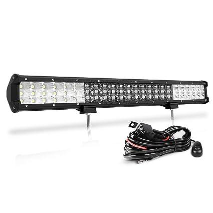 Barra de luz LED triple foco inundación luces de haz combinado ...