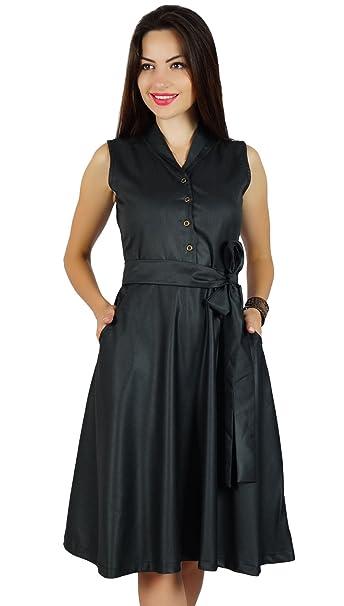 Bimba - Vestido - Triángulo - Sin mangas - para mujer negro Talla De  Encargo  Amazon.es  Ropa y accesorios 4c9cc929bc3
