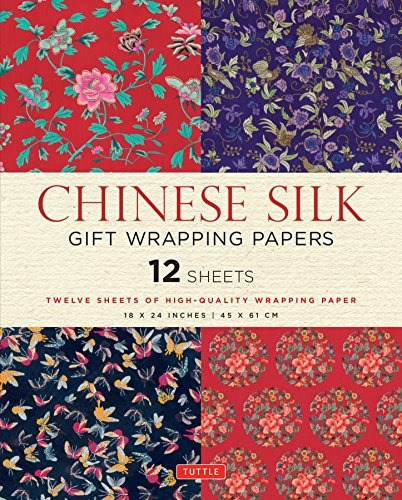 Pdf Crafts Chinese Silk Gift Wrapping Papers: 12 Sheets of High-Quality 18 x 24 inch Wrapping Paper
