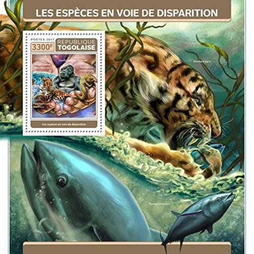 Togo - 2017 Endangered Species - Stamp Souvenir Sheet - (Endangered Species Stamps)