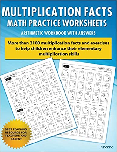 Multiplication Facts Math Worksheet Practice Arithmetic ...